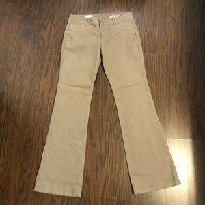 Gap 1969 pants khaki chinos slim boot green size 2